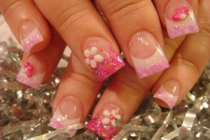 Nail , 6 Cute Acrylic Nail Designs : ... ,Dress, Fancy Dress, Fancy Printed Dress: Acrylic Nail Designs 2011