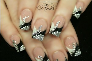 736x737px 6 Purple Prom Nail Designs Picture in Nail