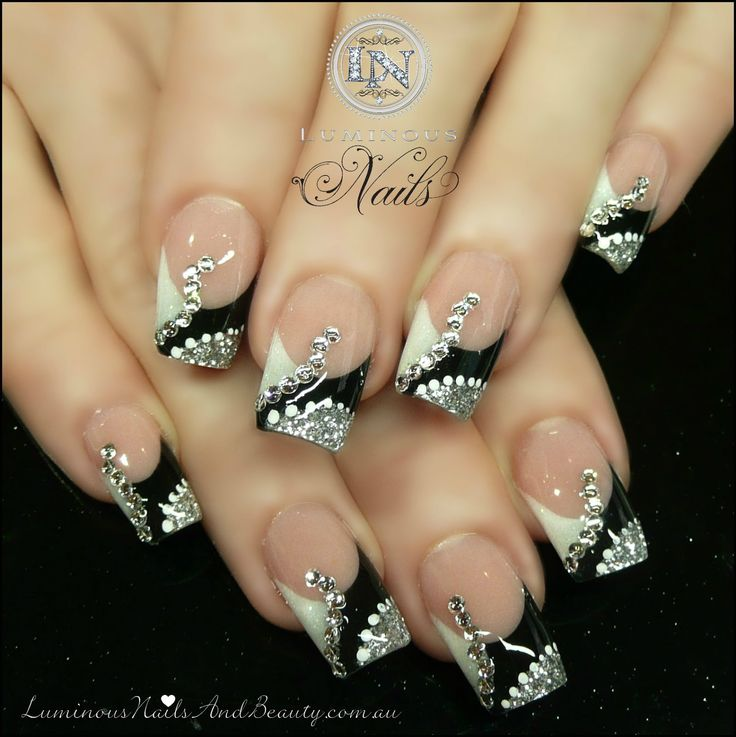 Silver For Prom Nail Ideas: Prom Nails Design Silver Black White Changing The
