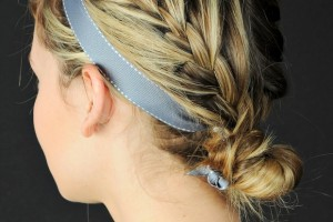 Hair Style , 6 French Braid Hair Band : double sided french braid