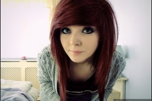 Fashion , 6 Emo Hairstyles For Girls With Brown Hair : Emo-girl, adorable, brown-hair, cute | 9images