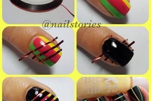 Nail , 6 Scotch Tape Nail Designs : Astounding DIY Nail Art Designs Using Scotch Tape | cathrynicious