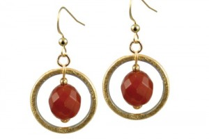 Jewelry , 6 Gold Drop Earrings : Home / Solar Carnelian Gold Drop Earrings