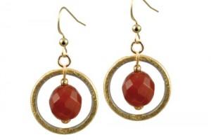 Jewelry , 6 Gold Drop Earrings : Home / Solar Carnelian Gold Drop Earrings