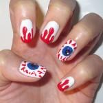 eye ball nails art , 5 Bloodshot Eyes Nail Design In Nail Category