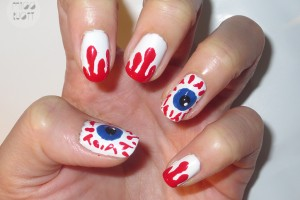 Nail , 5 Bloodshot Eyes Nail Design : eye ball nails art