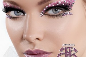 Make Up , 6 Rhinestone Eye Makeup : Passionate Pink/Clear Rhinestone Xotic Eyes | Makeup