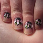 floral prom nail 45 Cute Nail Designs You Will Definitely Love , 6 Purple Prom Nail Designs In Nail Category