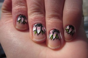 Nail , 6 Purple Prom Nail Designs : floral prom nail 45 Cute Nail Designs You Will Definitely Love