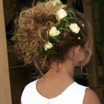 flower girl updo flowers , 7 Flower Girl Hair In Hair Style Category