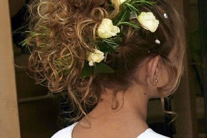 Hair Style , 7 Flower Girl Hair : flower girl updo flowers