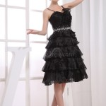 Black Modest A-line Backless Organza Paillette Little Black Dresses ... , 6 Little Black Dress Backless Inspiration In Fashion Category