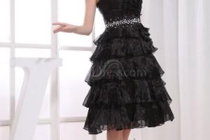 Fashion , 6 Little Black Dress Backless Inspiration : Black Modest A-line Backless Organza Paillette Little Black Dresses ...