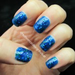 Polish went on smoothly, no problems with glitter placement.... , 6 Blue Prom Nail Designs In Nail Category
