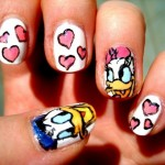 : Romantic Lovable Donald And Dessy Duck Polish Nail Art Designs ... , 6 Romantic Nail Art Design In Nail Category