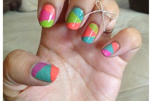 Nail , 6 Scotch Tape Nail Designs : Astounding DIY Nail Art Designs Using Scotch Tape | cathrynicious