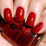 glitter red nail polish , 6 Red Nail Polish Ideas In Nail Category
