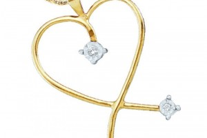 Jewelry , 8 Gold Heart Necklaces For Women : gold heart necklaces for women