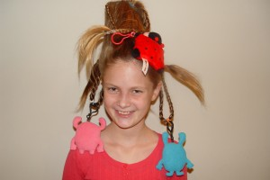Hair Style , 7 Crazy Hair Day Styles For School : hairstyle for Crazy Hair Day