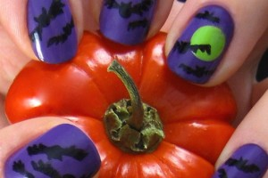 Nail , 8 Batty Nail Art Designs : halloween bats polish