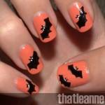 halloween batty nail art , 8 Batty Nail Art Designs In Nail Category