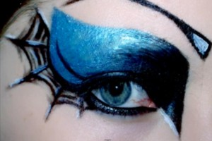 Make Up , 7 Spider Web Eye Makeup : gothic spiderweb eye make up tutorial by trashyfag :
