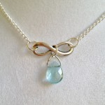 Infinity and Crystal Necklace by joytoyou41 on Etsy , 6 Crystal Necklace Etsy In Jewelry Category