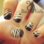 kiss wrap Black Cat Nails , 7 Black Kitty Nail Art In Nail Category