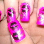 Kissy Lips Nails Pink Nail Designs , 7 Lips Nail Art Design In Nail Category