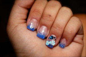 600x400px 6 Blue Prom Nail Designs Picture in Nail