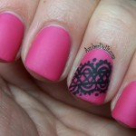 lace design as an accent nail. I used OPI La Paz-Itively Hot, the lace ... , 6 Lace Nail Art Design In Nail Category
