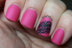 Nail , 6 Lace Nail Art Design : lace design as an accent nail. I used OPI La Paz-Itively Hot, the lace ...