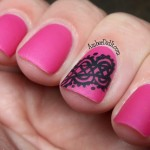 think this would make a great wedding design. I could see doing this ... , 6 Lace Nail Art Design In Nail Category