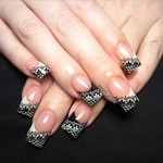 lace black nail art design , 10 Lace Nail Art Design In Nail Category