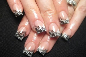 Nail , 10 Lace Nail Art Design : lace nail art