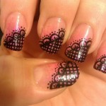 lace nail art transfers , 8 Lace Nail Art Tutorial In Nail Category
