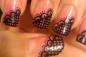 Nail , 8 Lace Nail Art Tutorial :  lace nail art transfers
