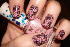 Nail , 8 Lace Nail Art Tutorial :  lace nail art tumblr
