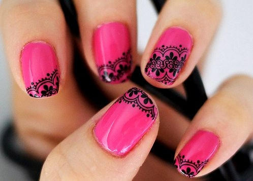 8 Lace Nail Art Tutorial in Nail