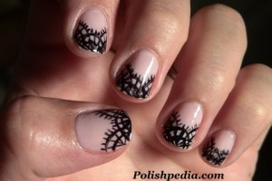 Nail , 8 Lace Nail Art Tutorial : Nail Art Designs | Lace Nail Art