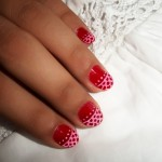 lace red nail art design , 10 Lace Nail Art Design In Nail Category