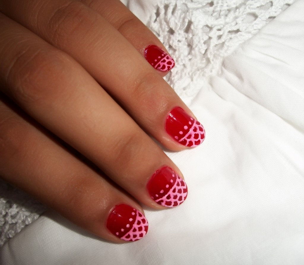 6 Lace Nail Art Design in Nail