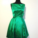 Dresses : Evening Dresses : 1950\'s Emerald Green Cocktail Dress , 6 Green Vintage Prom Dress Designs In Fashion Category
