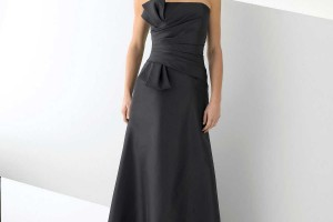 Fashion , 4 Long Black Dresses For A Wedding : Simple and Elegant Black Party Dress