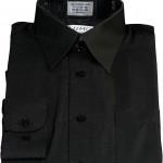 Lumo Men\'s Black Long Sleeve Point Collar Dress Shirt , 8 Boys Long Sleeve Black Dress Shirt In Fashion Category