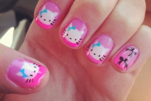 Nail , 6 Cute Acrylic Nail Designs : 2013 Cute Cat Acrylic Nails Best Nail Designs – Nail Art Gallery