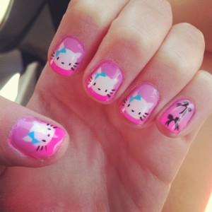 2013 cute cat acrylic nails best nail designs  nail art