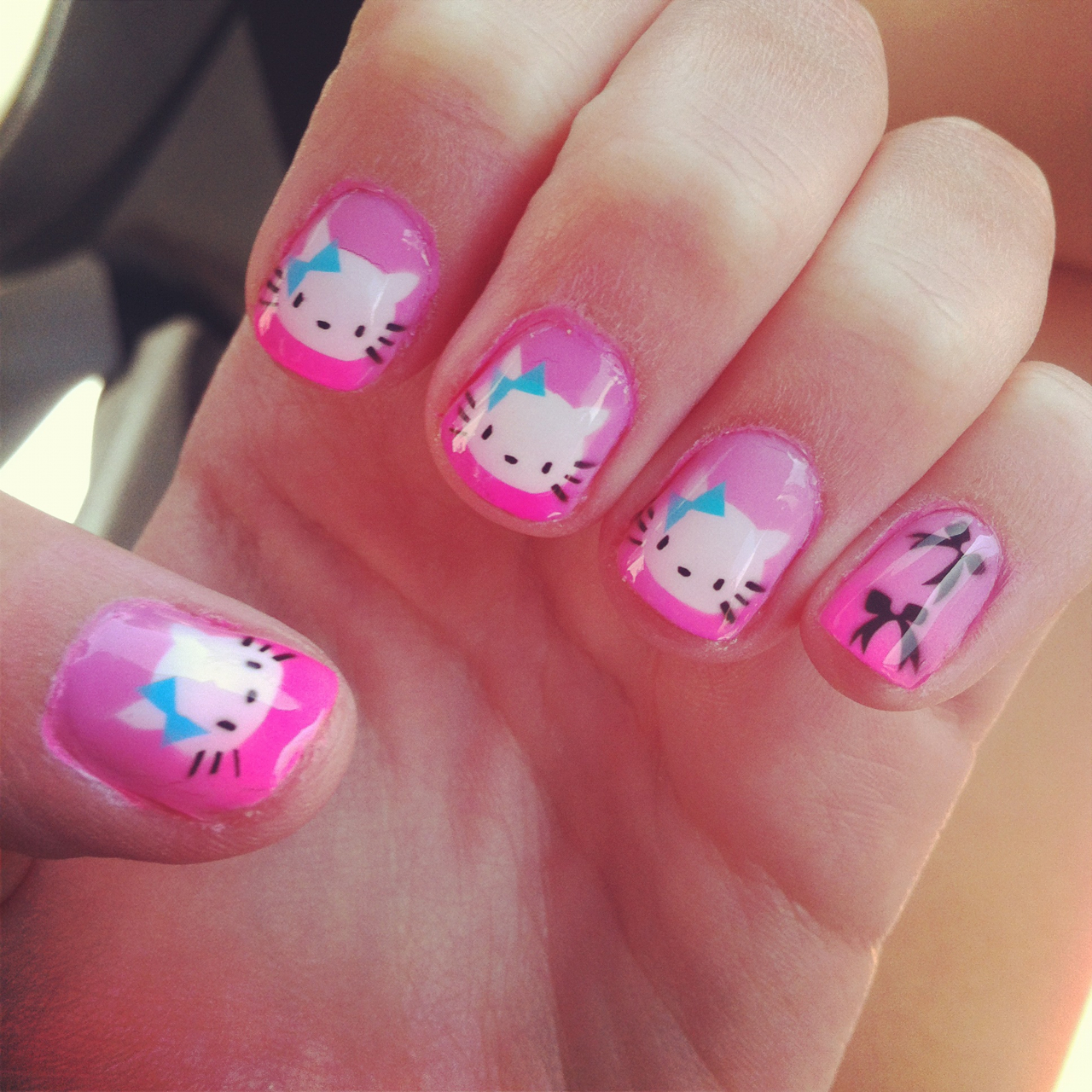 Cute girly nail designs graham reid 2013 cute cat acrylic nails best prinsesfo Choice Image