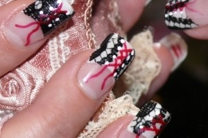 Nail , 8 Lace Nail Art Tutorial :  nail art design tutorial black lace nails