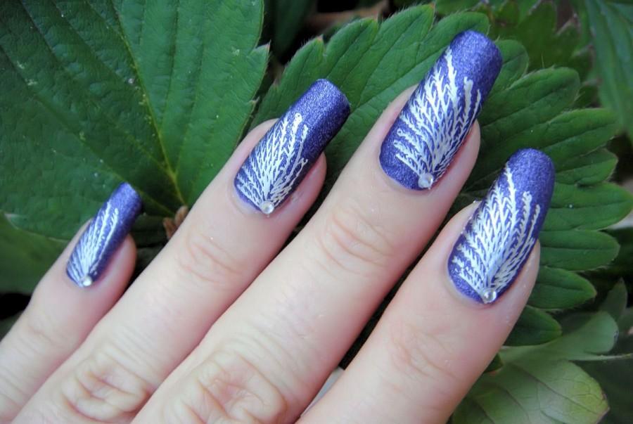 Nail , 6 Purple Prom Nail Designs : Prom Natural Purple Heart Nail Art Designs 2014 Easy Prom Nail Designs ...